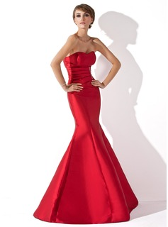 Mermaid Sweetheart Floor-Length Taffeta Evening Dress With Ruffle Beading (017013777)