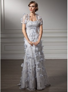 Trumpet/Mermaid Sweetheart Floor-Length Lace Mother of the Bride Dress With Beading Flower(s)