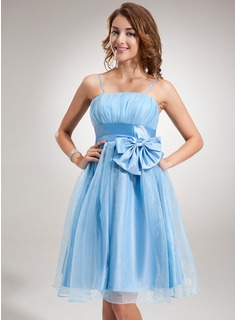 Empire Knee-Length Taffeta Organza Homecoming Dress With Ruffle