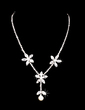 Gorgeous Alloy/Pearl With Rhinestone Ladies' Jewelry Sets (011028544)
