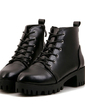 Leatherette Chunky Heel Ankle Boots shoes (088055307)