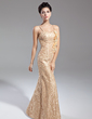 Trumpet/Mermaid Sweetheart Floor-Length Lace Mother of the Bride Dress With Ruffle Flower(s) (008015080)