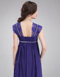Empire Square Neckline Floor-Length Chiffon Maternity Bridesmaid Dress With Ruffle Lace Beading (045021003)
