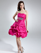 A-Line/Princess Sweetheart Short/Mini Taffeta Homecoming Dress With Ruffle Beading (022020754)