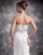 Trumpet/Mermaid Strapless Floor-Length Lace Evening Dress (017016878)