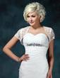 Short Sleeve Lace Wedding Wrap (013022599)