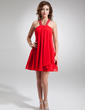 A-Line/Princess Halter Short/Mini Chiffon Homecoming Dress With Beading (022004625)
