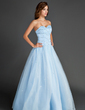 Ball-Gown Sweetheart Floor-Length Organza Prom Dress With Beading (018015566)