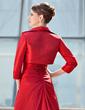 Çan/Prenses Tek-Omuzlu Uzun Etekli Taffeta Gelin Annesi Elbisesi Ile Büzgü Lace Pullarda (008006472)