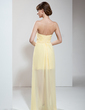 Sheath/Column Sweetheart Floor-Length Chiffon Cocktail Dress With Ruffle Beading Sequins (016008377)