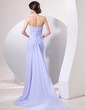 A-Line/Princess Sweetheart Watteau Train Chiffon Evening Dress With Ruffle Beading Split Front (017014057)