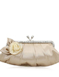 Elegant Satin With Flower/Rhinestone Clutches (012011028)