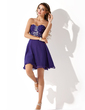 A-Line/Princess Sweetheart Short/Mini Chiffon Homecoming Dress With Ruffle Beading (022008133)