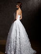 Ball-Gown Strapless Sweep Train Organza Wedding Dress With Ruffle Flower(s) (002011567)