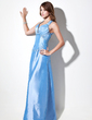 A-Line/Princess Sweetheart Floor-Length Taffeta Evening Dress With Ruffle Beading (017016059)
