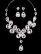 Leaves Shaped Alloy/Rhinestones Ladies' Jewelry Sets (011029098)