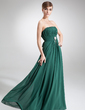 Empire Strapless Floor-Length Chiffon Mother of the Bride Dress With Ruffle Crystal Brooch Bow(s) (008016251)