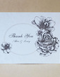 Personalized Lovely Rose Hard Card Paper Thank You Cards (Set of 50) (118029359)