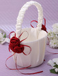 Classic Flower Basket in Satin With Bow (102037353)