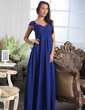 A-Line/Princess Sweetheart Floor-Length Chiffon Bridesmaid Dress With Ruffle (007005166)