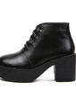 Real Leather Chunky Heel Platform Ankle Boots shoes (088055314)