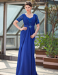 A-Line/Princess Sweetheart Sweep Train Chiffon Mother of the Bride Dress With Ruffle Beading Sequins (008018702)