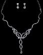 Gorgeous Alloy/Rhinestones Ladies' Jewelry Sets (011026641)