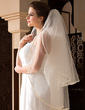 Two-tier Fingertip Bridal Veils With Ribbon Edge (006036659)