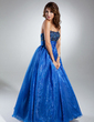 A-Line/Princess Sweetheart Floor-Length Organza Quinceanera Dress With Ruffle Beading (021015359)