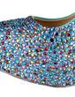 Leatherette Stiletto Heel Pumps Platform Closed Toe With Rhinestone shoes (085026596)