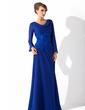 Linia A/Księżniczka Dekolt typu Woda Do Podłogi Chiffon Suknia dla Mamy Panny Młodej Z Lace (008006015)