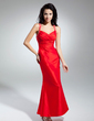 Trumpet/Mermaid Sweetheart Ankle-Length Taffeta Prom Dress With Ruffle Beading (018014949)