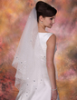 One-tier Waltz Bridal Veils With Cut Edge (006020347)