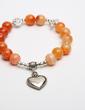 Personalized Faux Rhodochrosite Ladies' Bracelets (011054921)