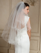 Two-tier Elbow Bridal Veils With Cut Edge (006024474)