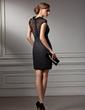 Sheath/Column Sweetheart Short/Mini Chiffon Lace Cocktail Dress (016021212)