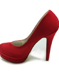 Women's Satin Stiletto Heel Closed Toe Platform Pumps (047017793)