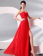 Sheath/Column Sweetheart Floor-Length Chiffon Evening Dress With Ruffle Split Front (017013998)