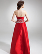 A-Line/Princess Sweetheart Floor-Length Taffeta Bridesmaid Dress With Embroidered Beading (007002101)