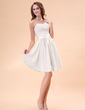 A-Line/Princess Sweetheart Knee-Length Chiffon Homecoming Dress With Ruffle (022014405)