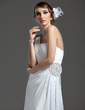 Sheath/Column One-Shoulder Floor-Length Chiffon Prom Dress With Ruffle Beading (018004790)