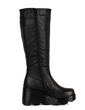 Leatherette Wedge Heel Mid-Calf Boots With Buckle shoes (088033801)