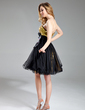 A-Line/Princess Sweetheart Short/Mini Tulle Sequined Homecoming Dress With Beading (022019591)