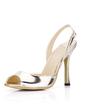 Patent Leather Stiletto Heel Sandals Slingbacks shoes (087022638)