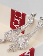 Elegant Zircon/Platinum Plated Ladies' Earrings (011057446)