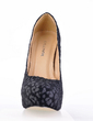 Suede Stiletto Heel Pumps Platform Closed Toe With Animal Print shoes (085016560)