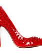 Patent Leather Stiletto Heel Pumps Closed Toe With Rivet shoes (085026600)