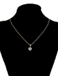 Heart Shaped Alloy With Rhinestone Ladies' Fashion Necklace (137055618)