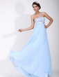 Empire Strapless Floor-Length Chiffon Holiday Dress With Ruffle Beading Sequins (020016075)