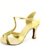 Kadın Suni deri Topuk Sandalet Latin Ile T-Askı Dans Ayakkabıları (053057174)